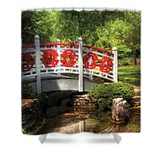 Orient - Bridge - Tranquility Shower Curtain by Mike Savad
