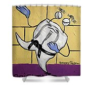 Oriental Tooth Shower Curtain by Anthony Falbo