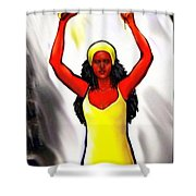 Oshun -goddess Of Love -4 Shower Curtain by Carmen Cordova