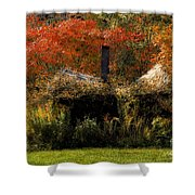 Ouch Shower Curtain by Lois Bryan