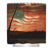 Our Banner In The Sky Shower Curtain by Frederic Edwin Church