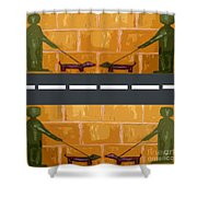 Out On The Street Shower Curtain by Patrick J Murphy