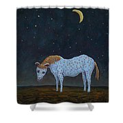 Out To Pasture Shower Curtain by James W Johnson