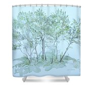 Outer Banks Shower Curtain by Leah  Tomaino