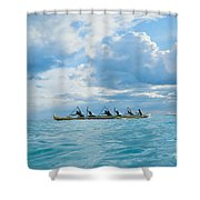 Outrigger Canoe Shower Curtain by Bob Abraham - Printscapes