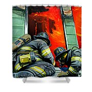 Outside Roof Shower Curtain by Paul Walsh