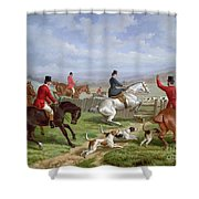 Over The Fence Shower Curtain by Edward Benjamin Herberte