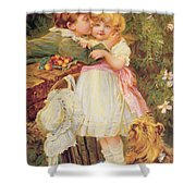 Over The Garden Wall Shower Curtain by Frederick Morgan