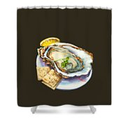 Oyster And Crystal Shower Curtain by Dianne Parks