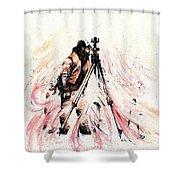 P J Shower Curtain by Rachel Christine Nowicki