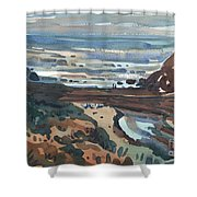Pacific Beach Day Shower Curtain by Donald Maier