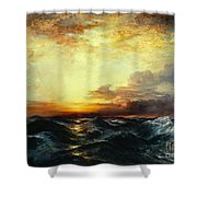 Pacific Sunset Shower Curtain by Thomas Moran