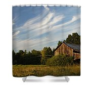 Painted Sky Barn Shower Curtain by Benanne Stiens