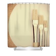 Painting Tools Shower Curtain by Wim Lanclus