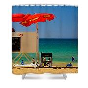Palm Beach Dreaming Shower Curtain by Avalon Fine Art Photography