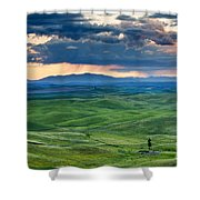Palouse Storm Shower Curtain by Mike  Dawson