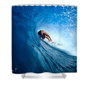 Pancho In The Tube Shower Curtain by Vince Cavataio - Printscapes