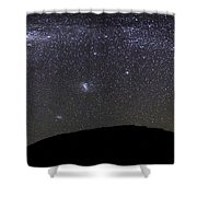 Panoramic View Of The Milky Way Shower Curtain by Luis Argerich