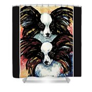 Papillon De Mardi Gras Shower Curtain by Kathleen Sepulveda