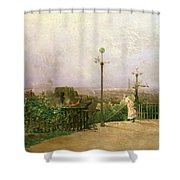 Paris Seen From The Heights Of Montmartre Shower Curtain by Jean dAlheim