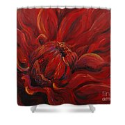 Passion II Shower Curtain by Nadine Rippelmeyer