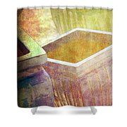 Pastel Pottery Shower Curtain by Susanne Van Hulst
