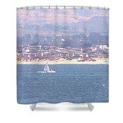 Pastel Sail Shower Curtain by Pharris Art