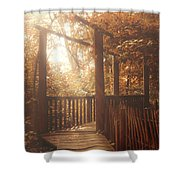 Pathway Shower Curtain by Wim Lanclus