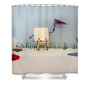 Patisserie Pastime Shower Curtain by Heather Applegate