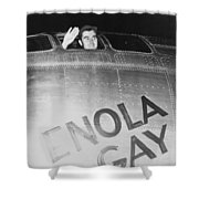 Paul Tibbets In The Enola Gay Shower Curtain by War Is Hell Store