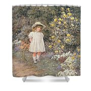 Pause for Reflection Shower Curtain by Helen Allingham