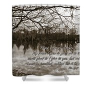 Peace I Leave With You Shower Curtain by Carolyn Marshall