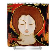 Peace Messenger Shower Curtain by Gloria Rothrock