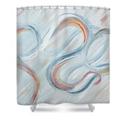 Peace Shower Curtain by Nadine Rippelmeyer