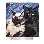 Peaceful Coexistence Shower Curtain by Linda Mears