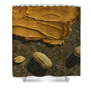 Peanut Butter And Peanuts Shower Curtain by James W Johnson