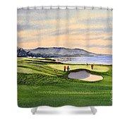 Pebble Beach Golf Course Shower Curtain by Bill Holkham