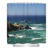Perfect Mix Of Blue And Green Shower Curtain by Donna Blackhall