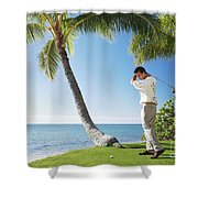 Perfect Swing Shower Curtain by Brandon Tabiolo - Printscapes
