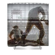Philadelphia Phillies - Citizens Bank Park Shower Curtain by Bill Cannon