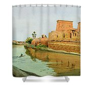 Philae On The Nile Shower Curtain by Alexander West