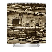 Phillies Stadium - Citizens Bank Park Shower Curtain by Bill Cannon