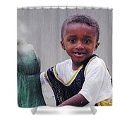 Philly Fountain Kid Shower Curtain by Brian Wallace