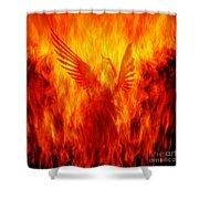 Phoenix Rising Shower Curtain by Andrew Paranavitana