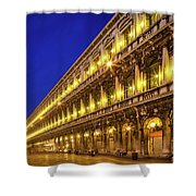 Piazza San Marco By Night Shower Curtain by Inge Johnsson