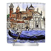 Piazzo San Marco Venice Italy Shower Curtain by Arlene  Wright-Correll