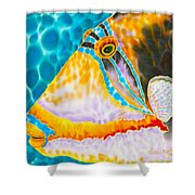 Picasso Trigger Face Shower Curtain by Daniel Jean-Baptiste