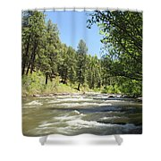 Piedra River Shower Curtain by Eric Glaser