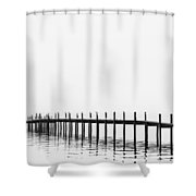 Pier Shower Curtain by Skip Nall