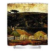 Pierce Point Ranch 18 . Texture Shower Curtain by Wingsdomain Art and Photography